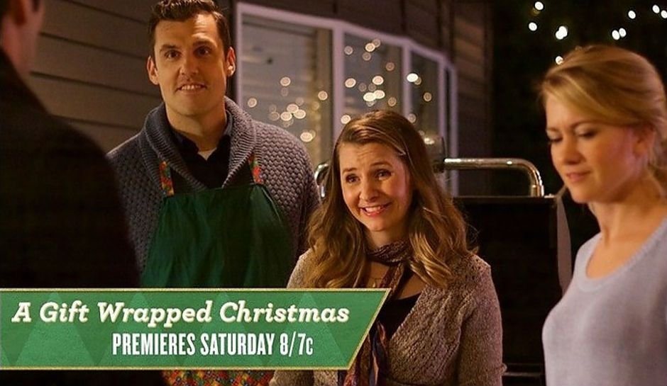 A gift wrapped christmas trailer hallmark movie