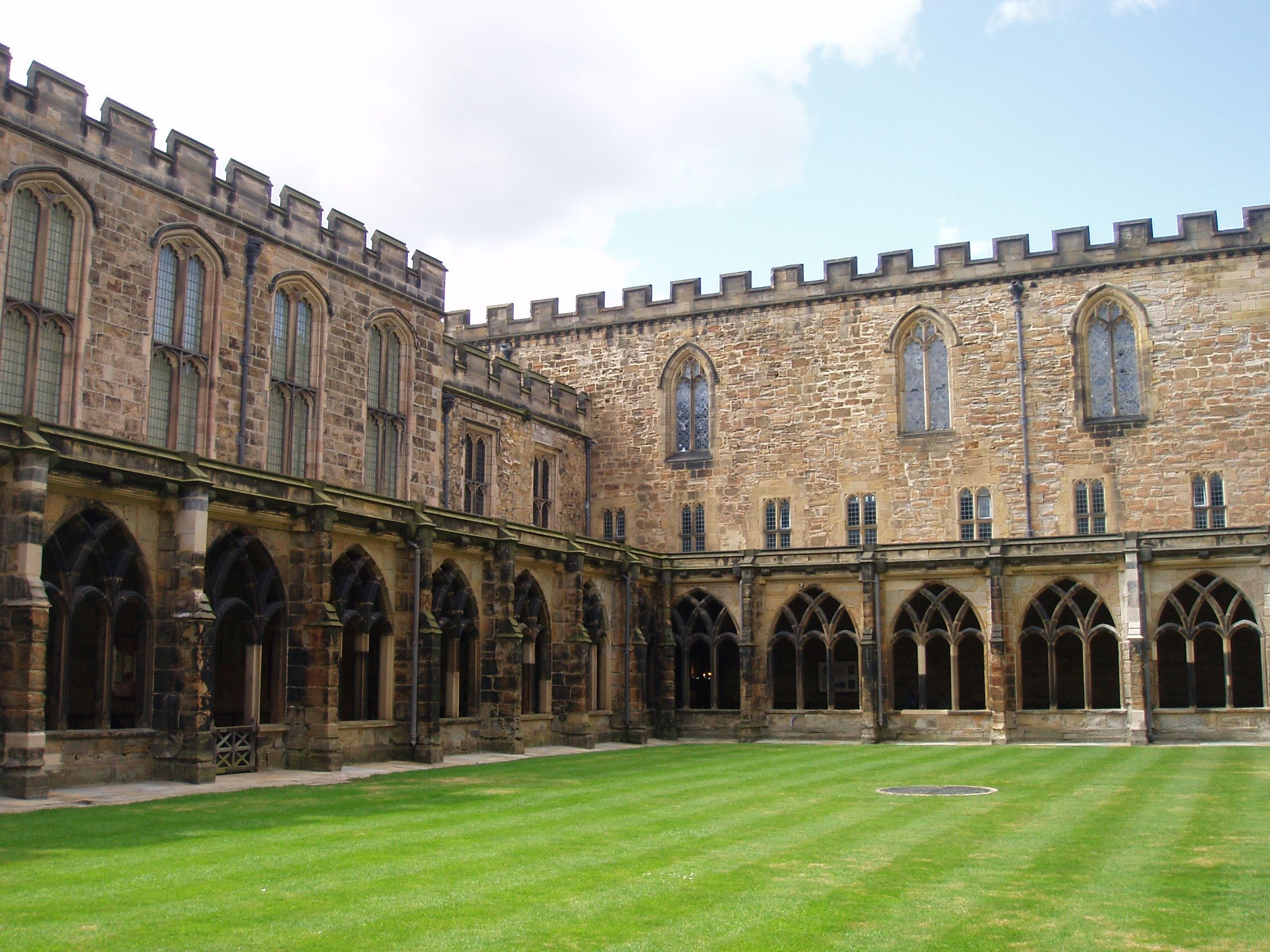 Durham England The Cloisters Of Durham Cathedral Served As The