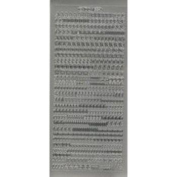 Stickers - Alfabet - Sølv
