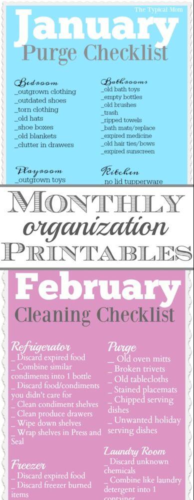 Organization Printables #summerhomeorganization
