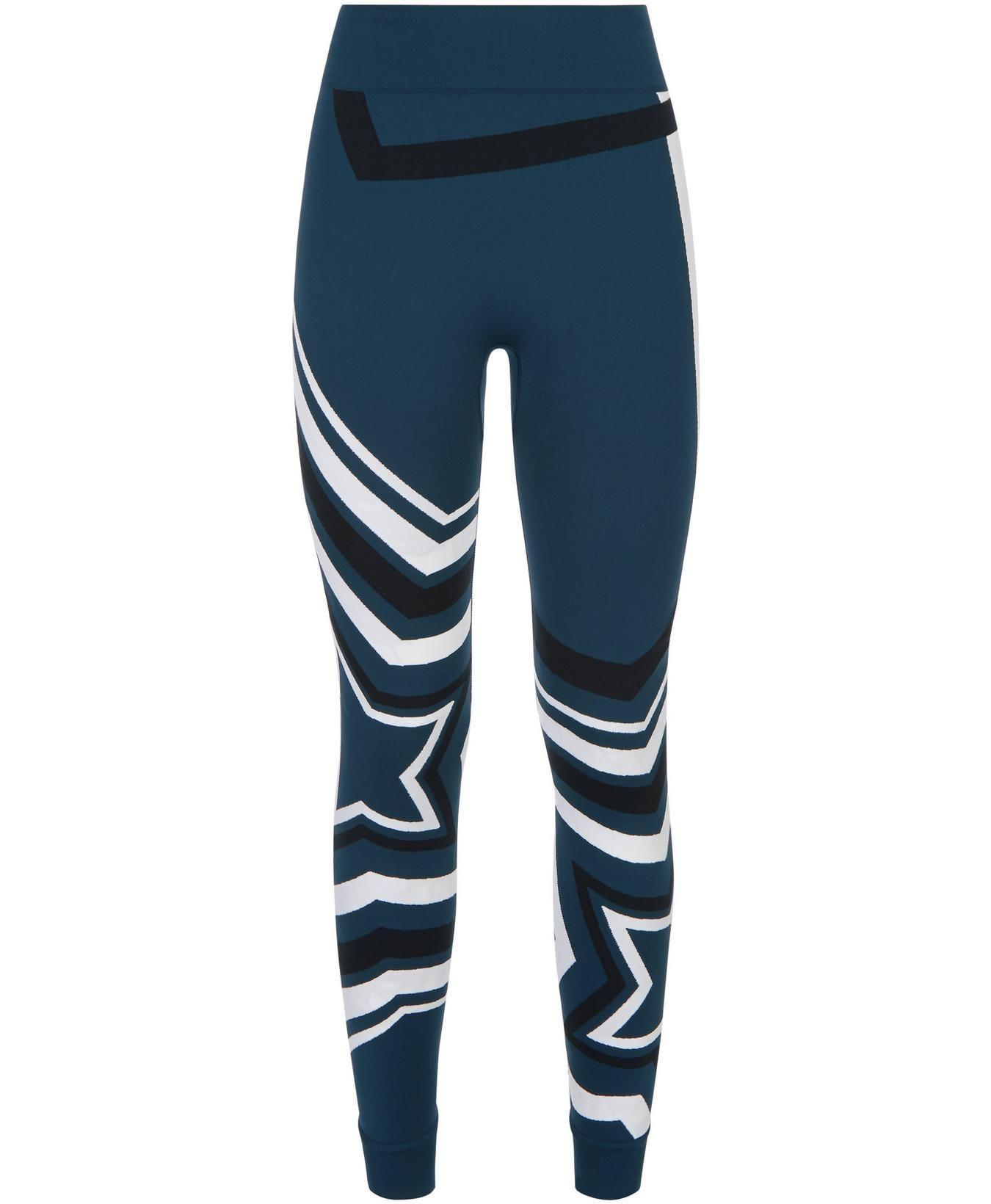 45d4a62086e7f Festive Star Seamless Base Layers Leggings - Beetle Blue Star Jacquard    Women's Leggings   Sweaty Betty