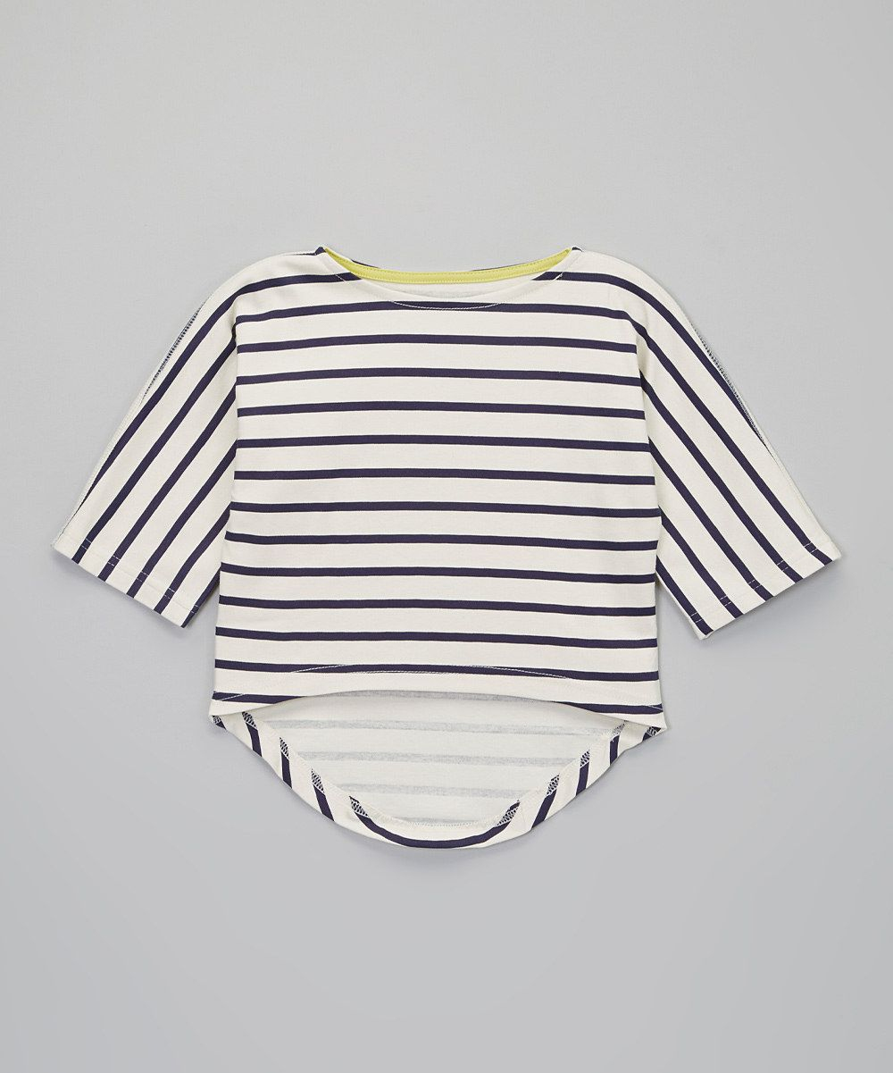This Snow Stripe Chelsea Organic Top - Toddler, Girls & Girls' Plus by Soft Clothing is perfect! #zulilyfinds