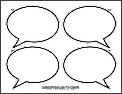 8 Blank speech bubbles   Free Printables, free printable shape ...