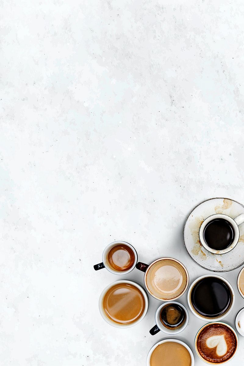Coffee Cups On A White Marble Textured Wallpaper Free Image By Rawpixel Com Nook Coffee Photography Coffee Pictures Coffee Photos