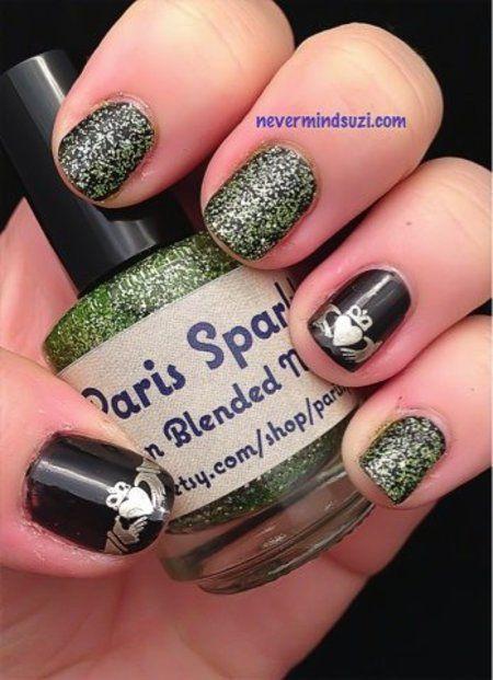 Irish Blessings #black #glitter #nails - bellashoot com   Re