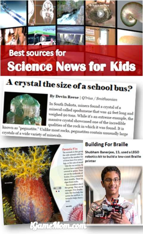 Best Sources Of Science News For Kids Science News For Kids