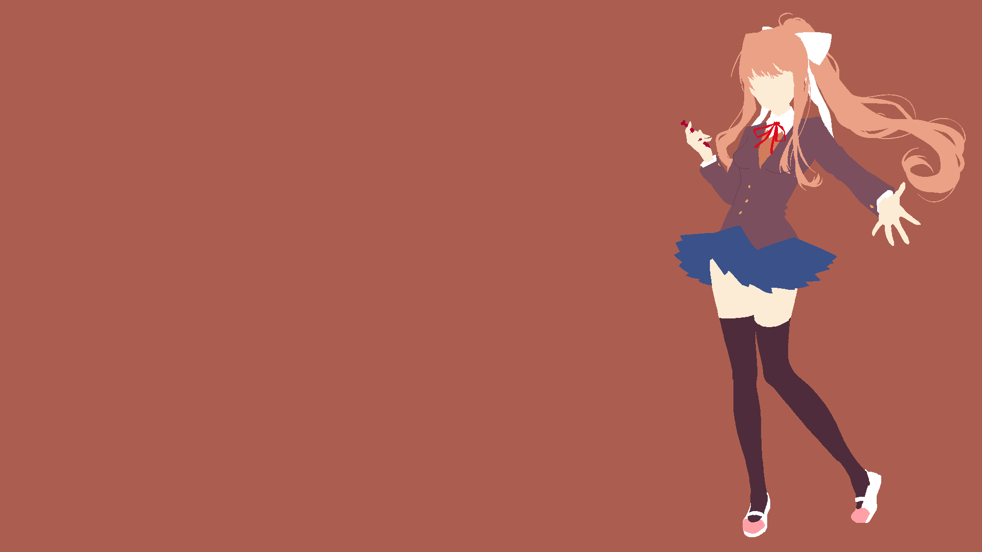 Minimalist Monika Wallpaper Literature Club Literature