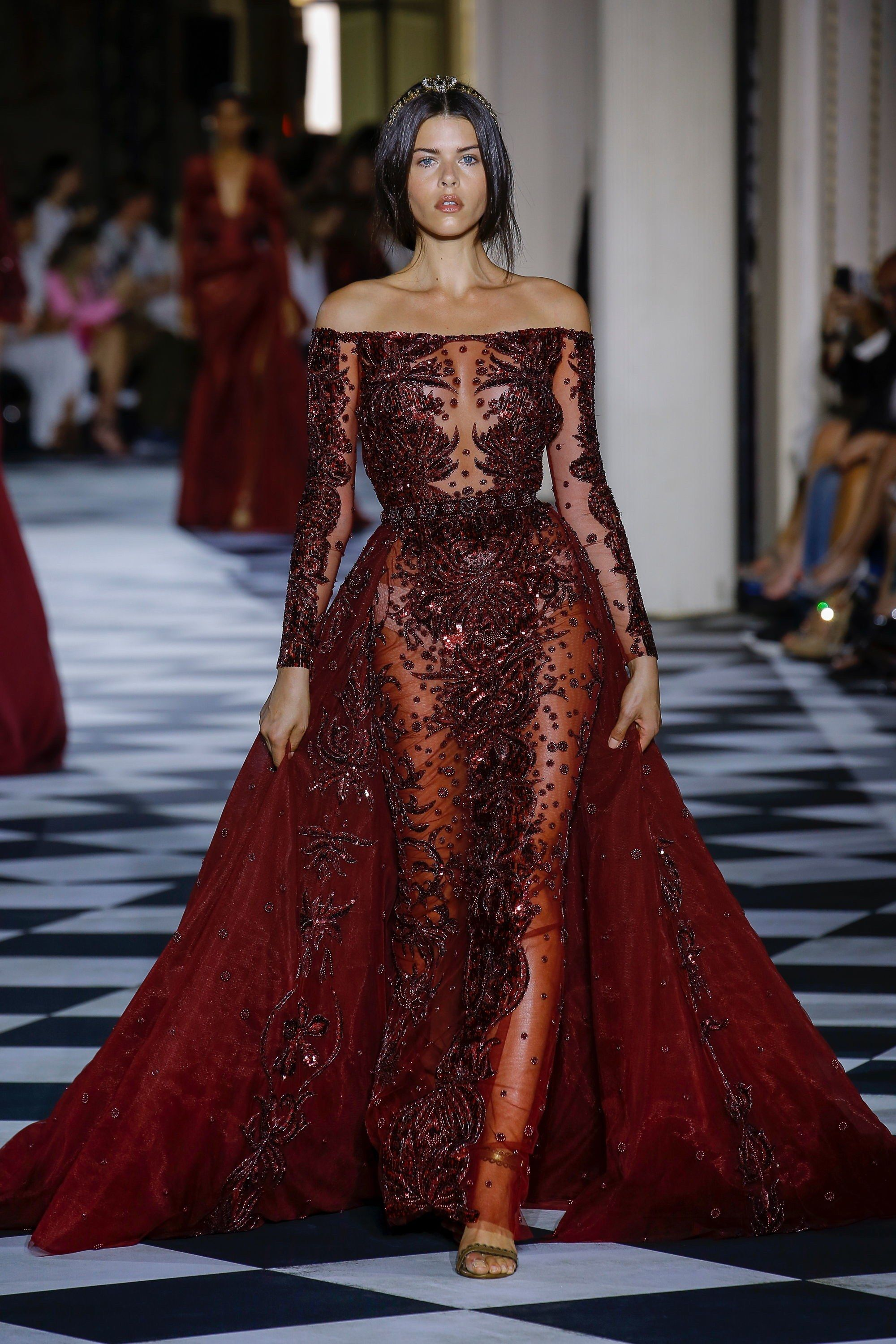 d1bf603c1 Zuhair Murad Fall 2018 Couture Collection - Vogue  ZuairMurad  apparel   clothes  designerclothing  styletrends  styleinspiration  fashion  dress   gown ...