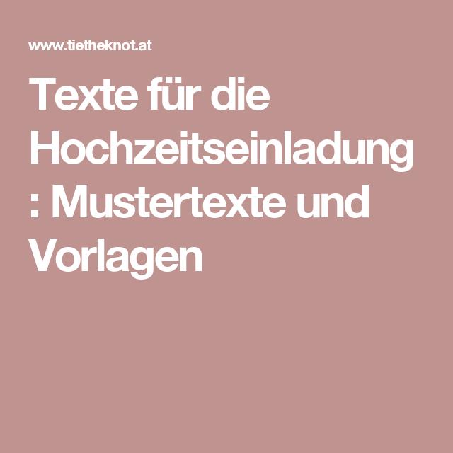 Texte Fur Die Hochzeitseinladung Mustertexte Und Vorlagen