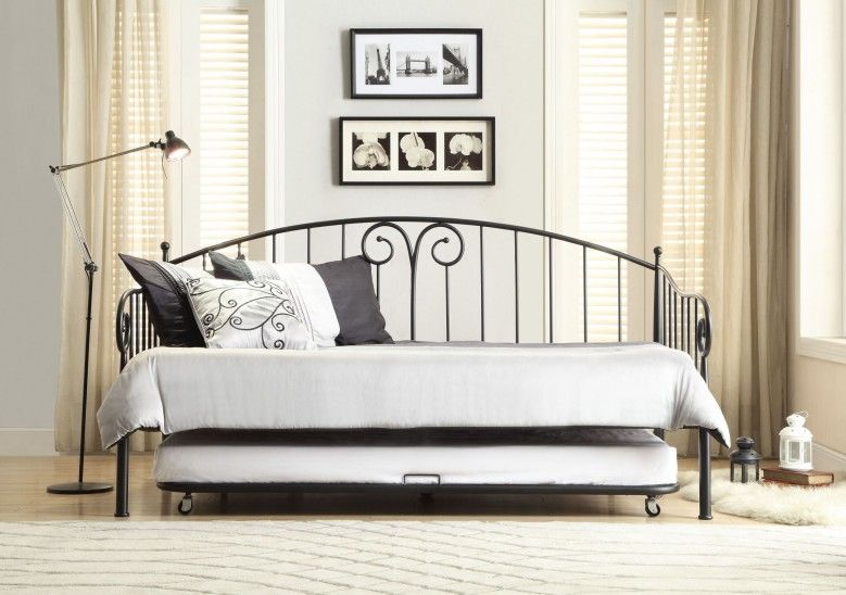 Ruby Black Metal Daybed With Trundle Metal Daybed Daybed With