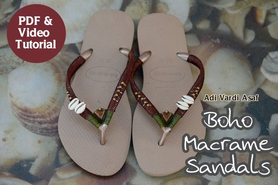 Micro Macrame Video Tutorial Boho Sandals How To Make Macrame