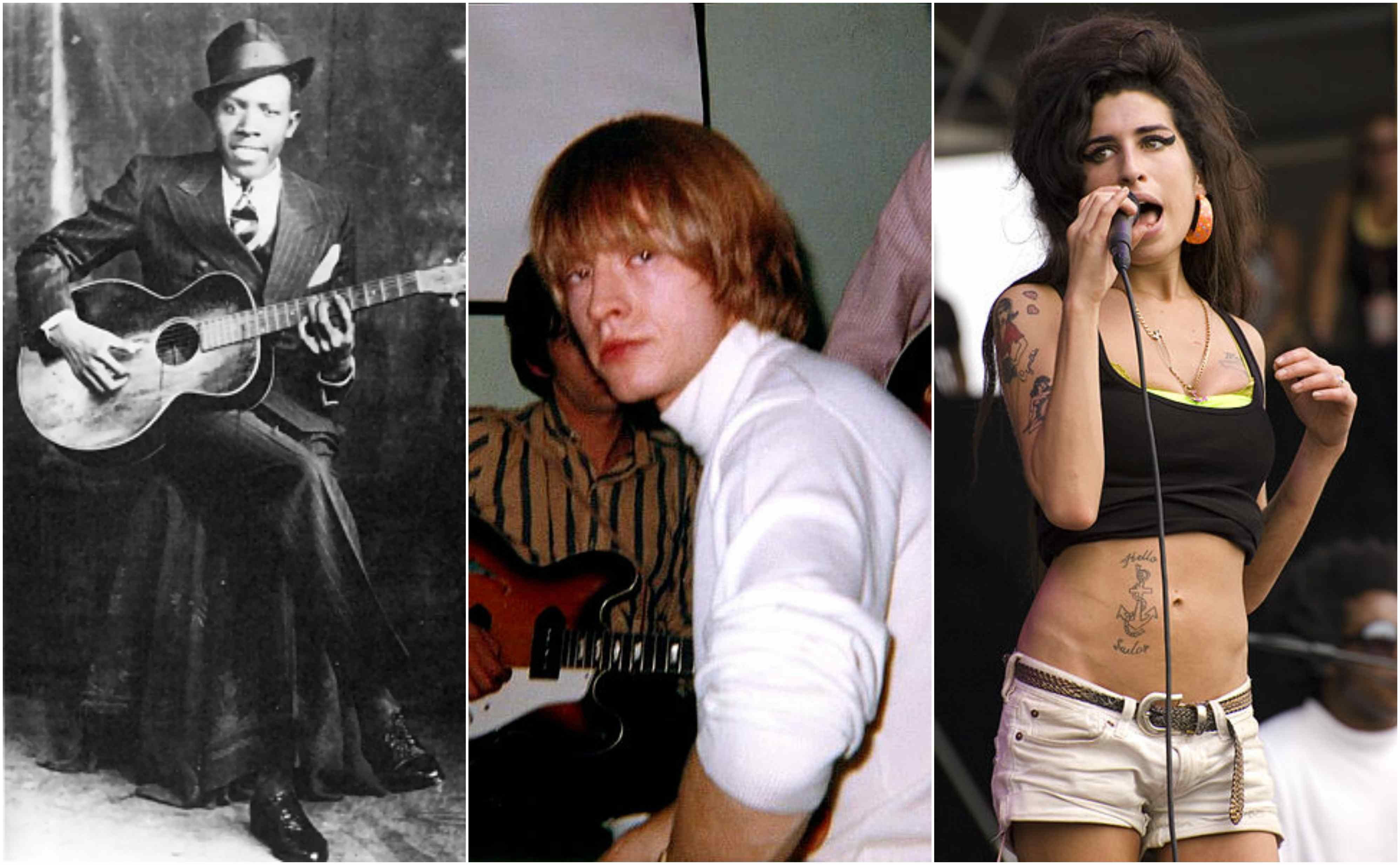 Club 27 Famous Musicians Who All Died At The Age Of 27 Which Ones Do You Remember Famous Musicians Celebrities Robert Johnson