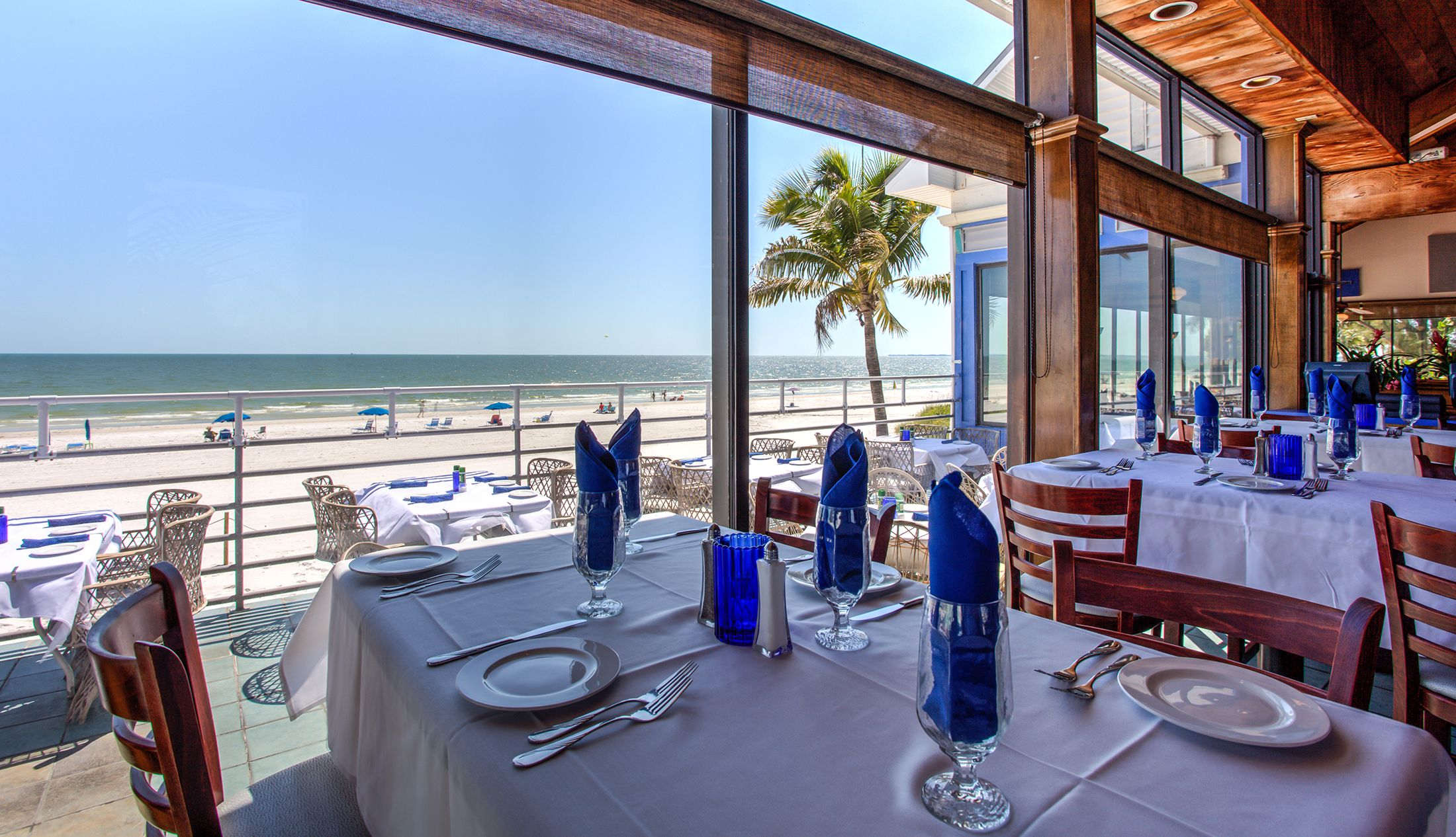 Inside Dining Room With A View Of Fort Myers Beach Fresh