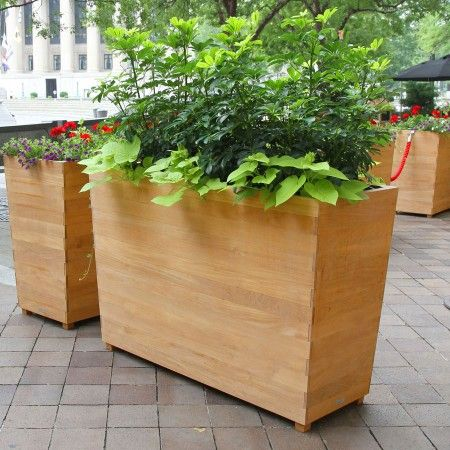 Pin By Shannon Deperry On Patio Ideas Rectangular Planters Planters Wood Planters