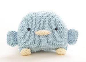 loom-knit beanbag bird