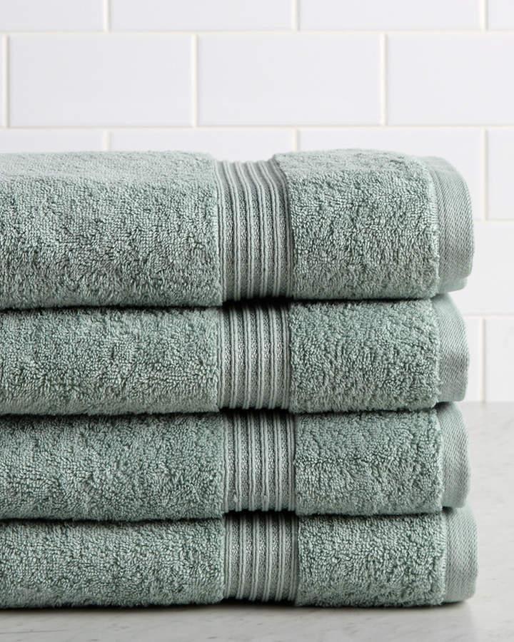 Superior Set Of Four Premium Combed Cotton Bath Towels Cotton