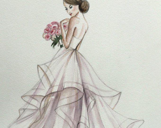 Photo of Bridal custom fashion illustration/wedding drawing