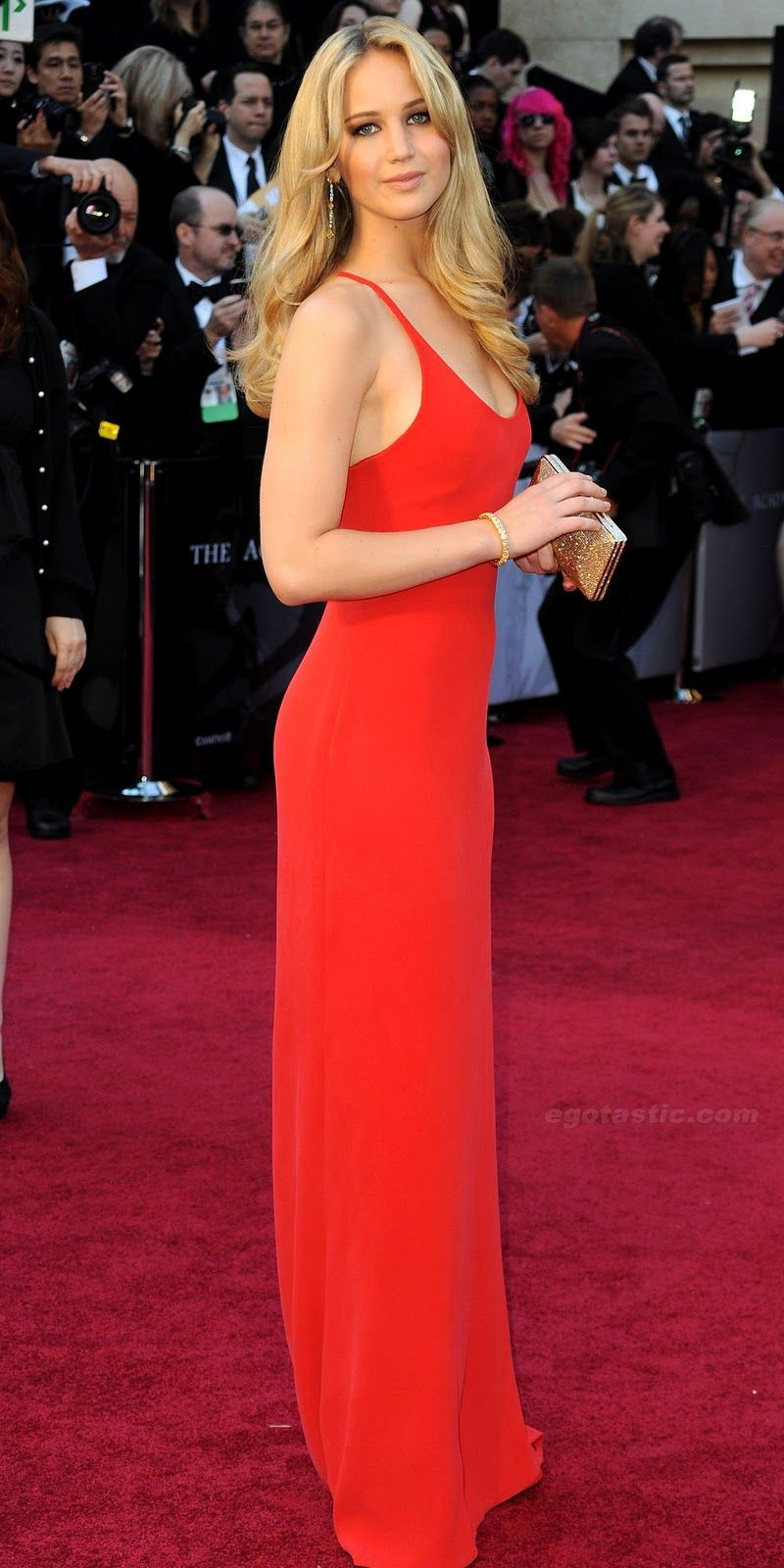 Jennifer Lawrence in Calvin Klein at The Academy Awards