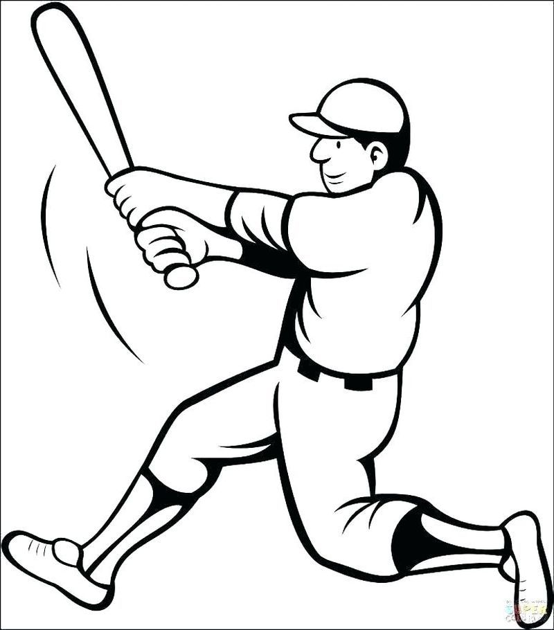 Make Your Kids Creative With Baseball Coloring Pages Baseball Coloring Pages Bat Coloring Pages Sports Coloring Pages