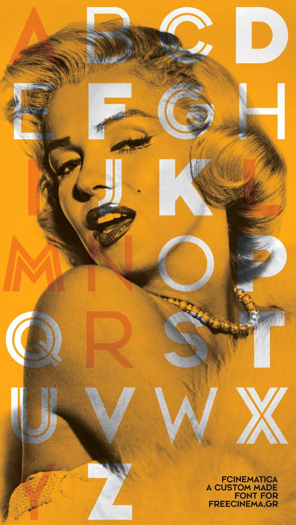 FreeCinematica Font by The Comeback , via Behance