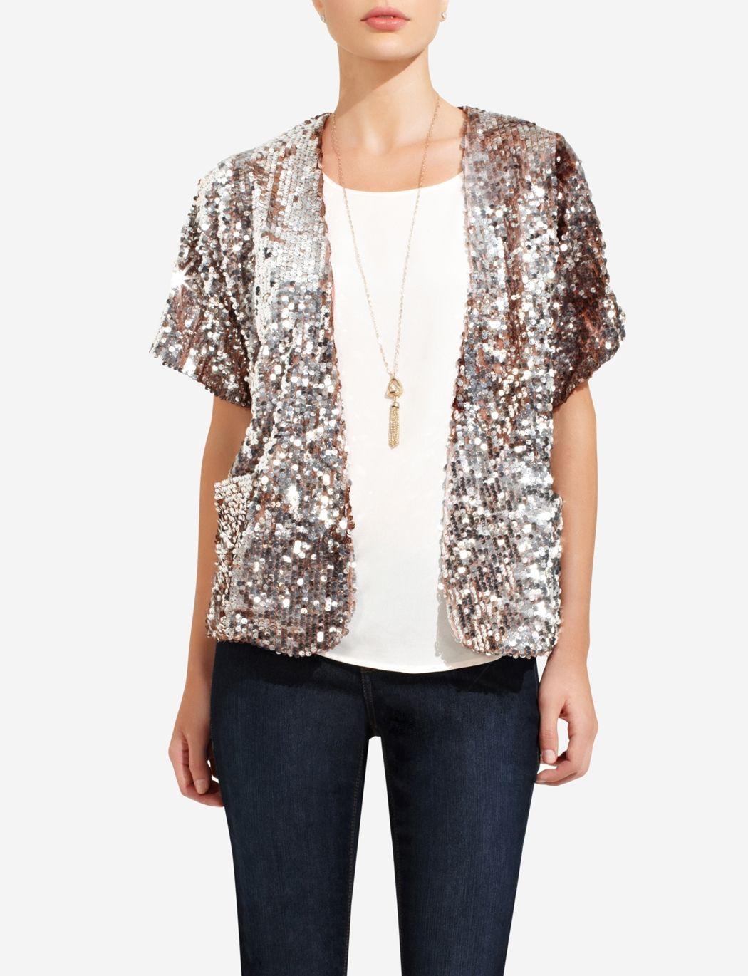 386486fa Silver & Rose Gold Sequin Jacket | THE LIMITED | Looks I Love ...