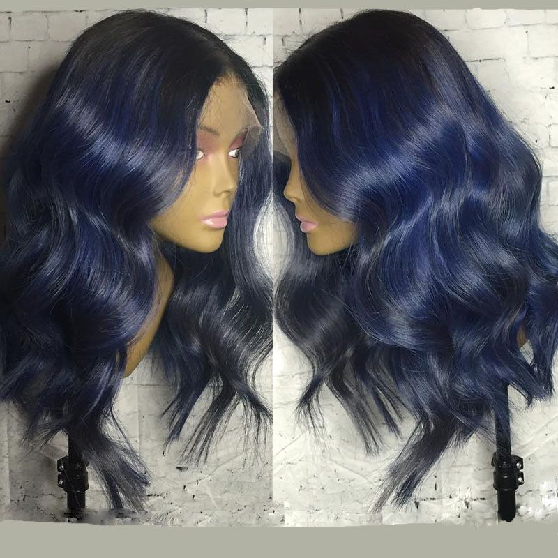 Blue Waves Human Hair Lace Wigs Touchedbytim004