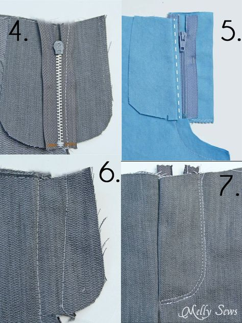 Sewing a Zipper Fly - Melly Sews