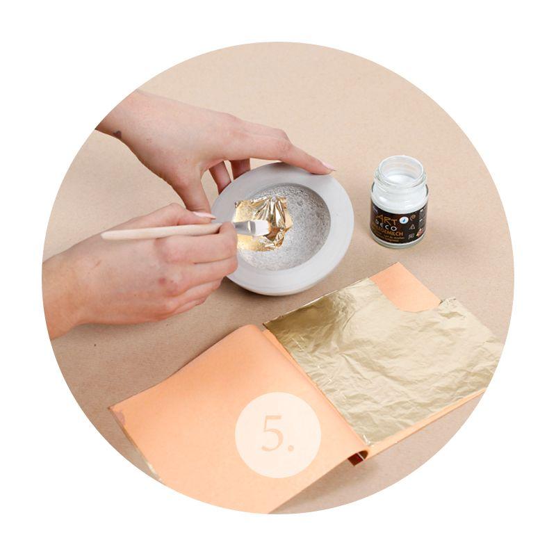 Mach dir deine eigene beton schale materialliste - Blattgold basteln ...