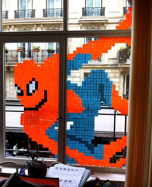 Check Out The Amazing Post It Note Office Art Post It Art Pixel Art Art