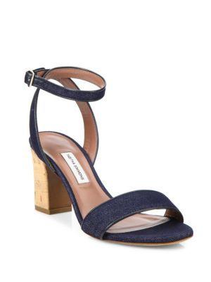 b549b6ff22ce TABITHA SIMMONS Leticia Denim Cork Block-Heel Sandals.  tabithasimmons   shoes  sandals