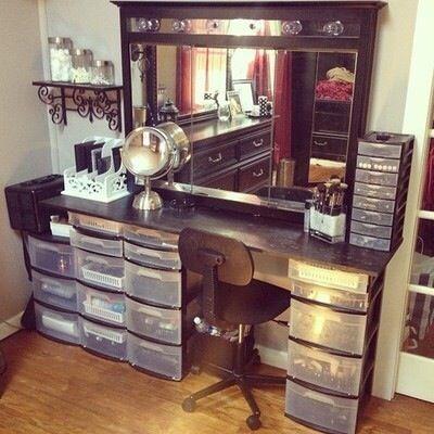 Dressing Table Plastic Storage Drawers Diy Vanity Beauty Room Diy Makeup Vanity