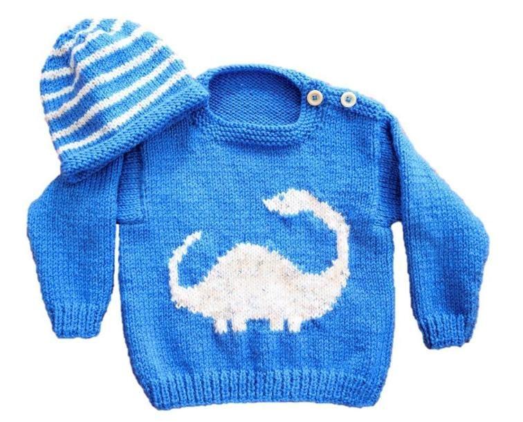 Dinosaur Sweater and Hat - Diplodocus | Pinterest