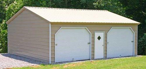 Best 24X41 Vertical Roof Metal Garage Alan S Factory Outlet 400 x 300