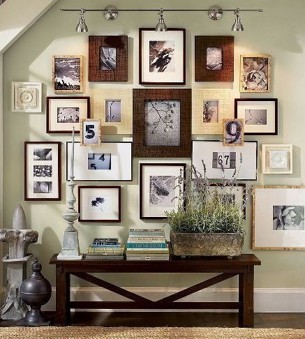 Hang It Best Sources For Cheap Picture Frames Hallway Decorating Frames On Wall Frame Wall Collage