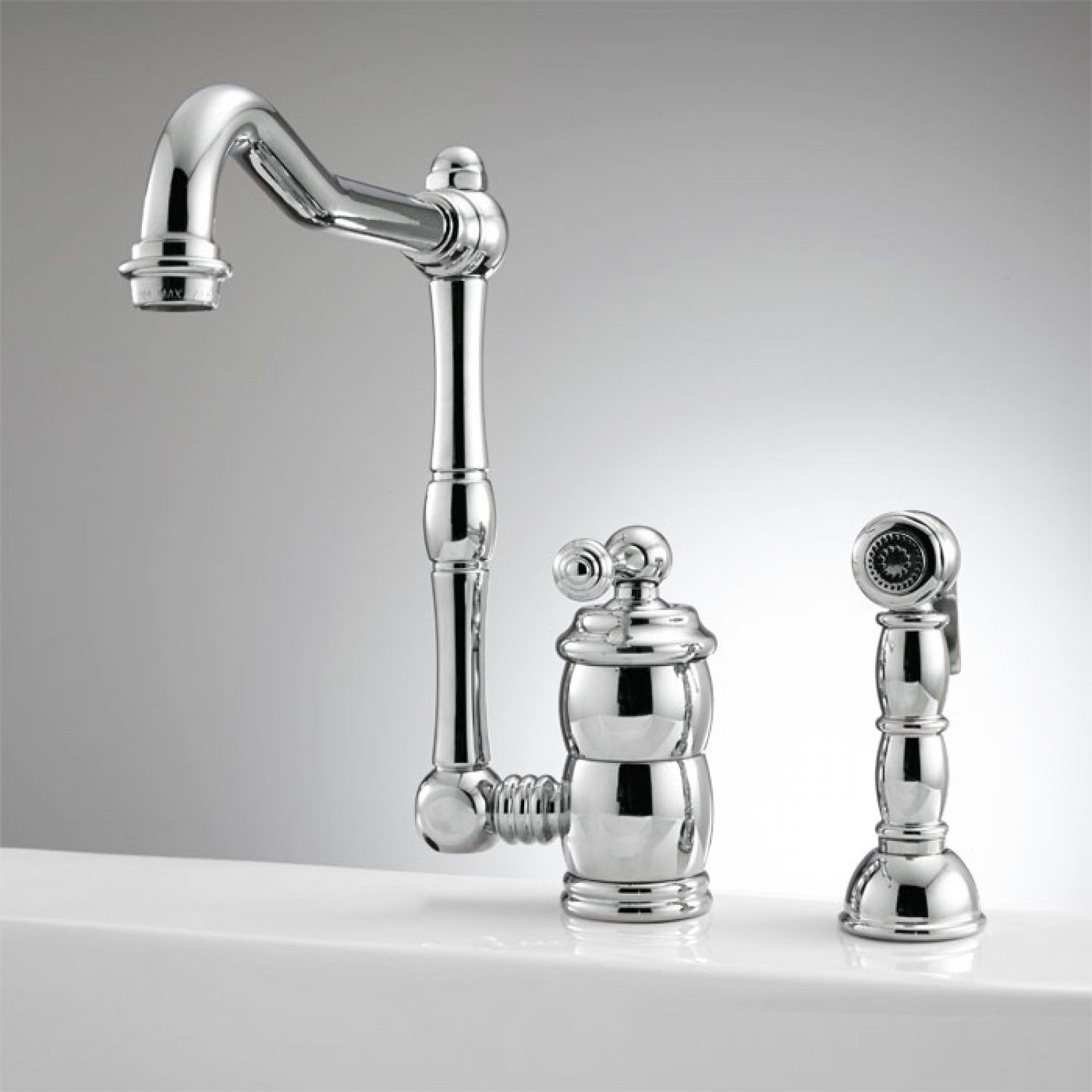 Mulder Single-Hole Kitchen Faucet with Side Spray | Kitchen faucets ...