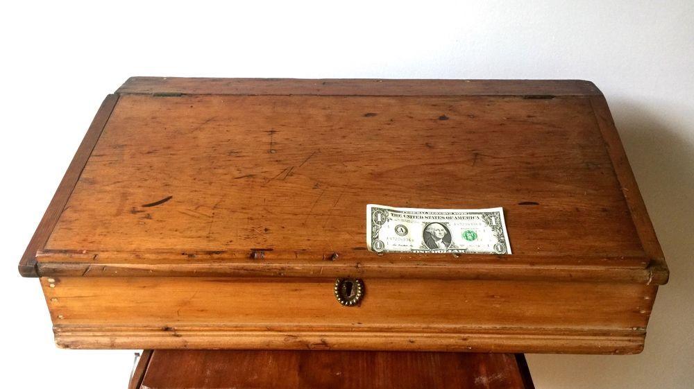 Primitive 18c Slant Top Pine Desk Box Pine Desk Desk Pine