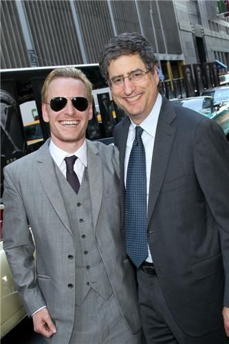 Michael Fassbender and Tom Rothman at 'X Men:First Class' New York  Premiere