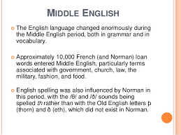 middle english spelling