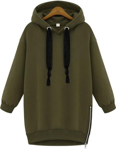 BAYY Womens Long Stylish Pockets Hoode Various Hem Oversized Sweatshirts