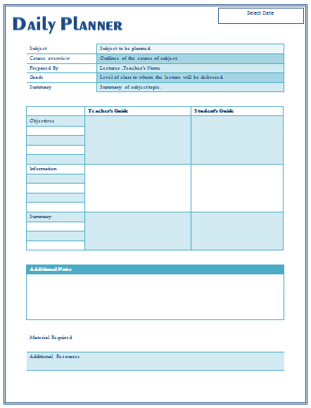 A Lesson Plan Is A Detailed Outline Of Instruction That An Educator Has Put Together Teacher Lesson Plans Template Daily Lesson Plan Lesson Plan Template Free