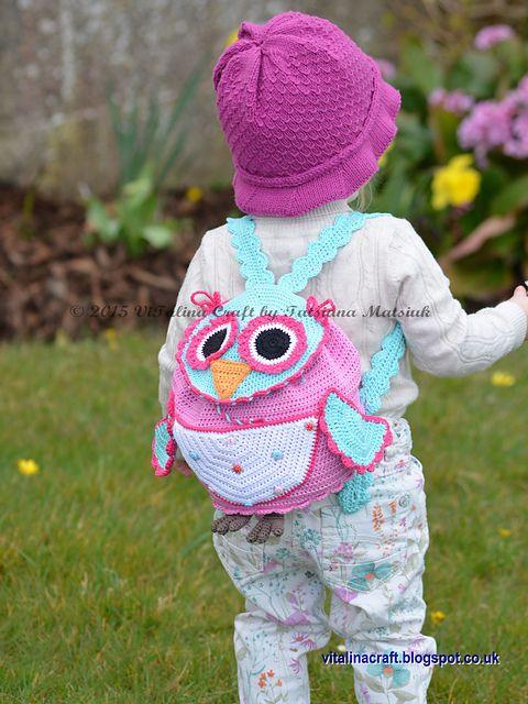 Owl Traveller Backpack pattern by Tatsiana Matsiuk | Tasche häkeln ...