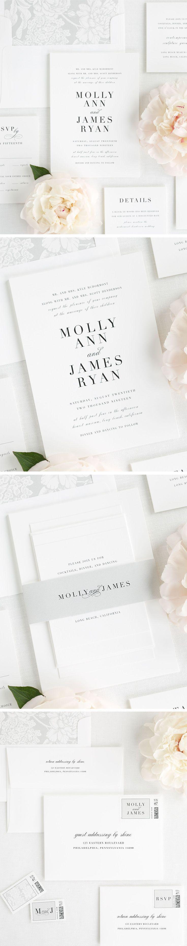 Serif Romance Wedding Invitations | Classic weddings, Invitation ...