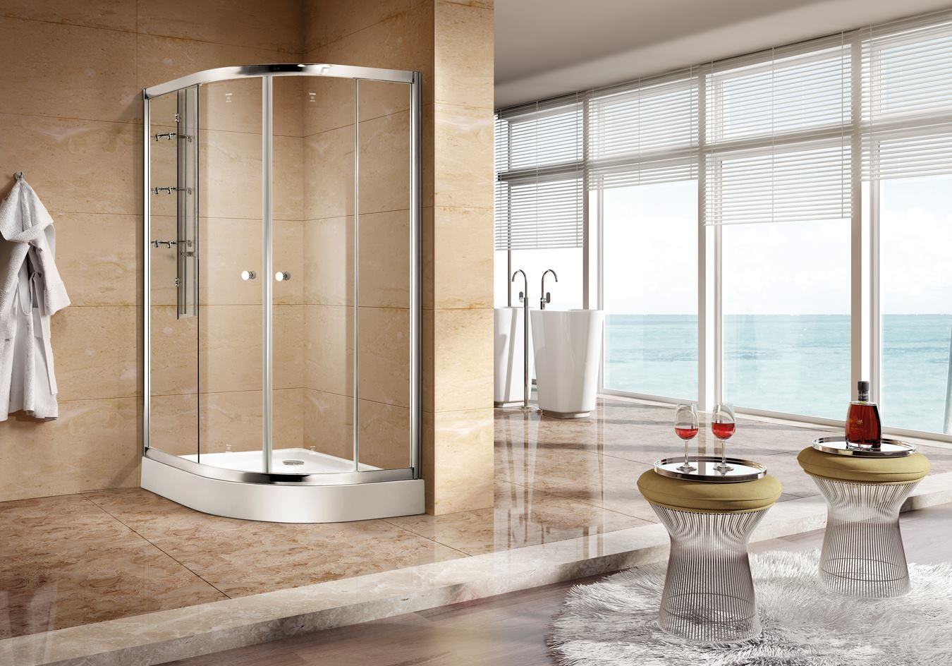 Buy Custom Glass Shower Doors And Shower Enclosures For Residential - Commercial bathroom enclosures
