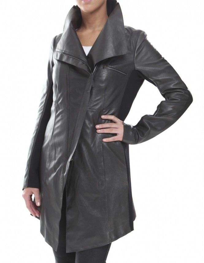 annette gortz black mambo leather coat for the love of. Black Bedroom Furniture Sets. Home Design Ideas