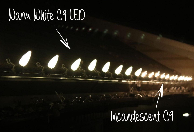 Warm White Comparison Incandescent Christmas Lights Led