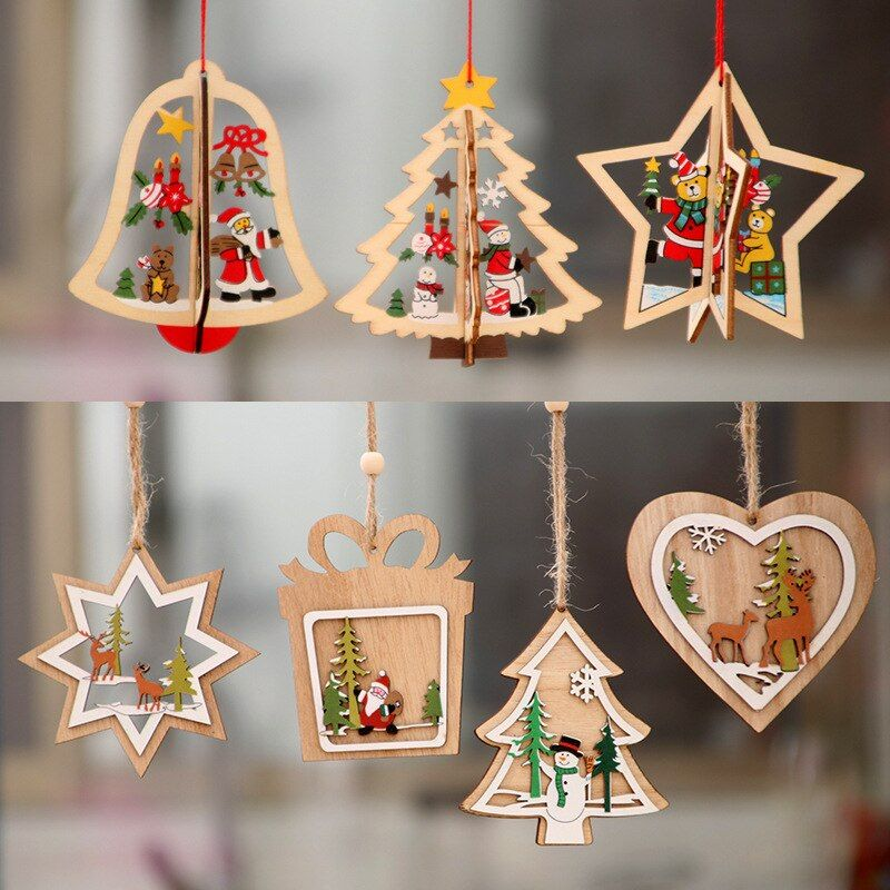 About 1 Christmas Tree Pentagram Wooden Christmas Decorations Christmas Decorations Xmas Christmas Decorations Xmas Trees