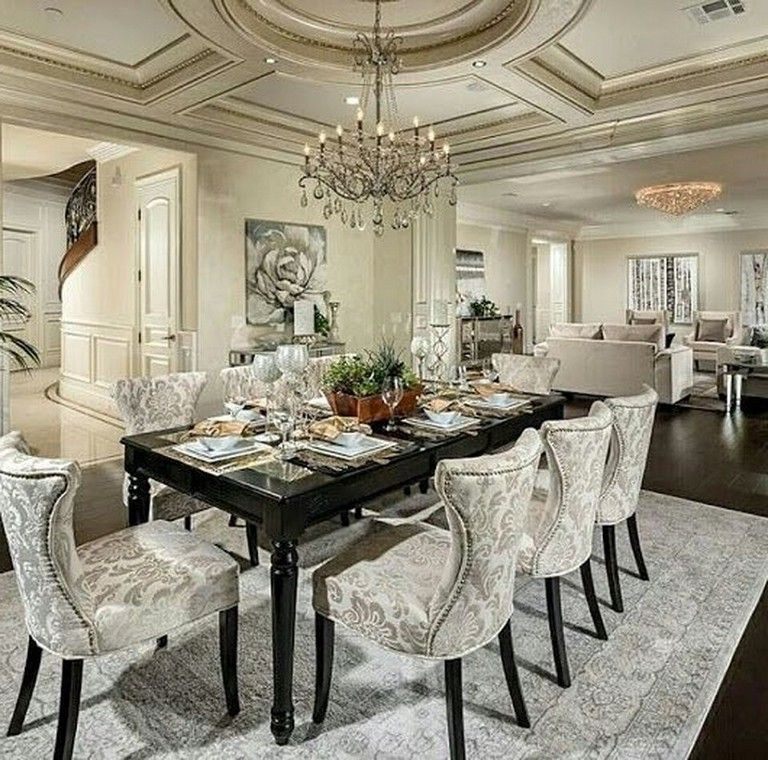 55 Celebrated And Luxury Western Dining Room Design