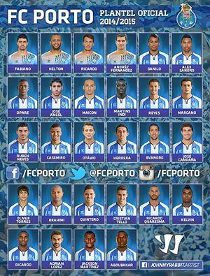 Plantel 2014 2015 Futebol Clube Do Porto Clube Futebol