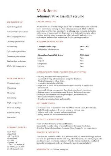 great student cv template no experience pictures student