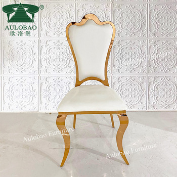Event And Rental Gold Stainless Steel White Leather Wedding Banquet Chair View Gold Chair Wedding Aulobao Product Details From Foshan Hardware Furniture Co Gold Chair Leather Wedding Chair